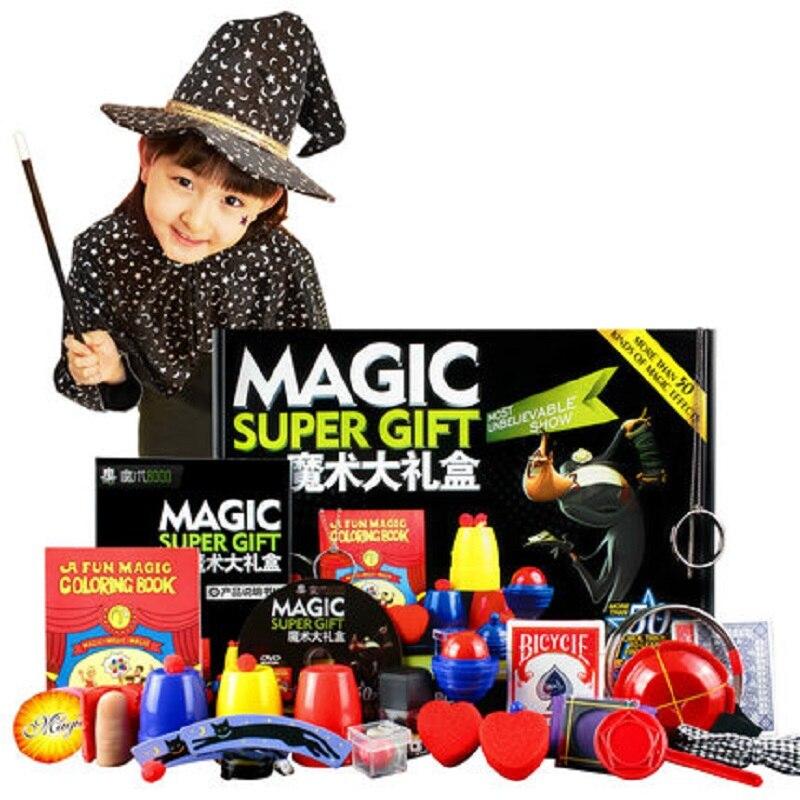 50 sortes de jeu de magie avec DVD enseignement des tours de magie professionnels scène gros plan Prop magique Gimick cartes enfant Puzzle jouet - 2