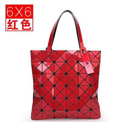 ФОТО Ladies Folded Geometric Plaid Bag Women Fashion Casual Tote Top-handle Bag Shoulder Bags Bao Bao Pearl BaoBao  Handbags