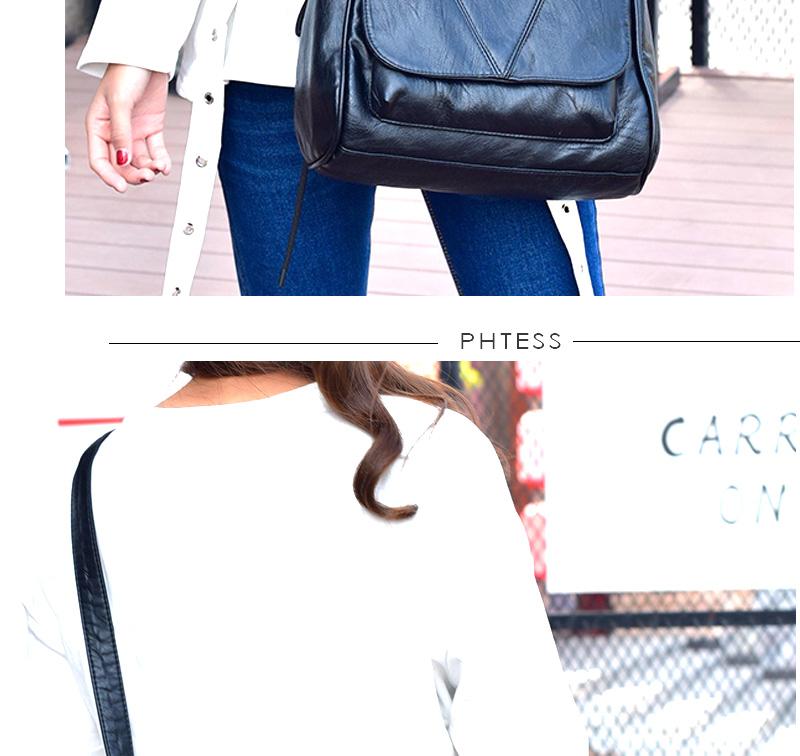 18 Women Messenger Bags Crossbody Soft Leather Shoulder Female Bag Flap Bolsa Feminina Designer Handbags High Quality Brand 11
