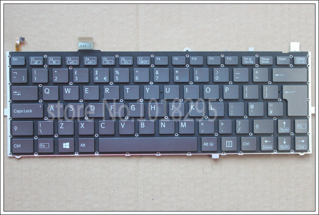 Nuevo teclado del ordenador portátil para sony vaio duo 13 svd13 svd1321z9eb svd13215pxb svd132a14l svd13228scw uk teclado retroiluminado