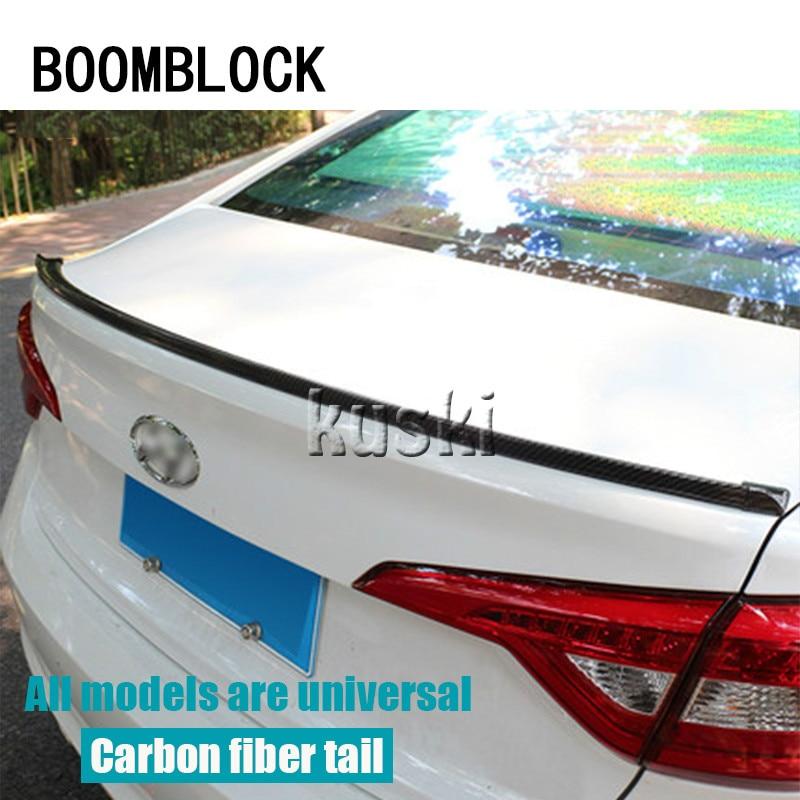 BOOMBLOCK Car Carbon Fiber Rear Spoiler Wing For Abarth Fiat 500 BMW E60 Kia Rio Ceed Sportage 2017 Volvo XC90 V70 Accessories