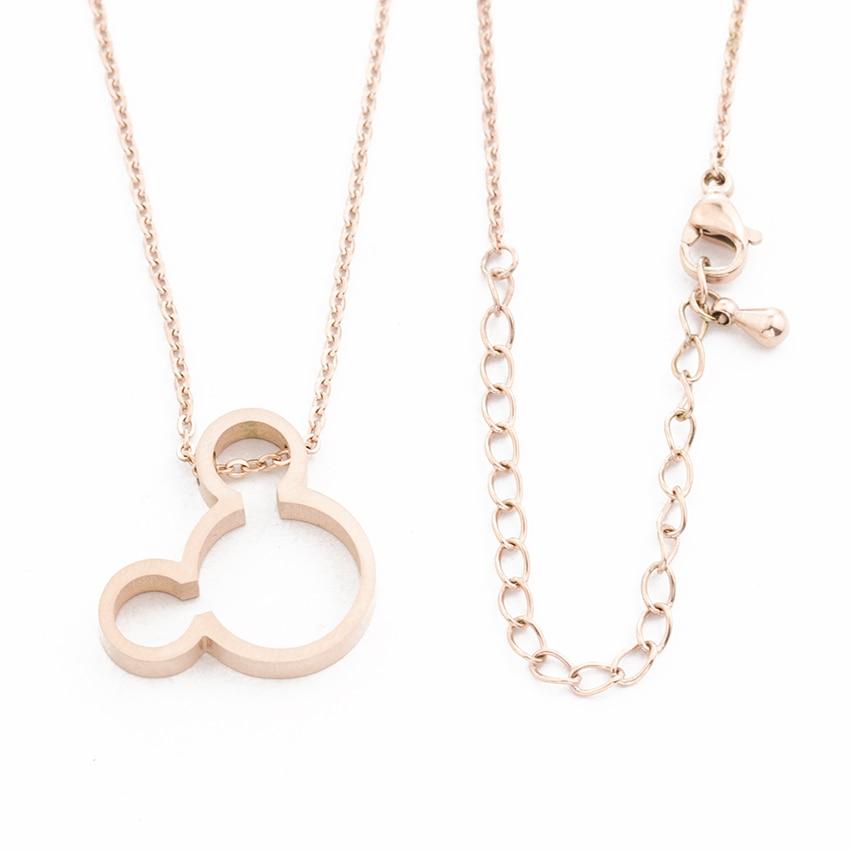 Ketting Vrouwen Maus Halskette Frauen Gold Farbkette Bijoux Femme - Modeschmuck - Foto 6