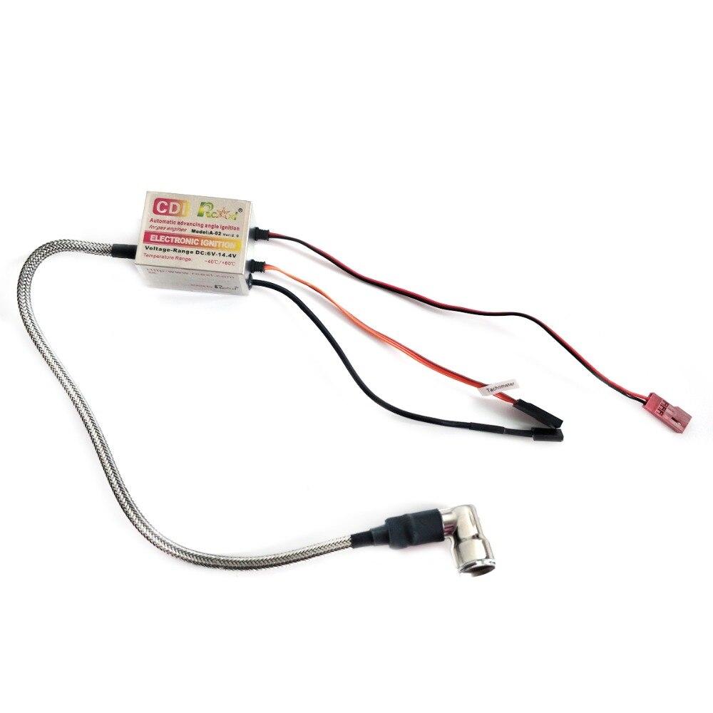 Rcexl unique CDI allumage pour RC modèle NGK CM6 10mm bougie 90 degrés DA DLE gaz essence moteur 6 V-14.4 V