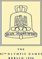 1936 Berlin Germany The Eleventh Session Olympic Games Emblem Nostalgic Retro Matte Kraft Paper Poster