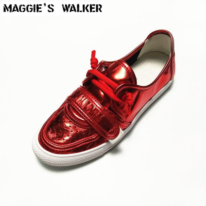 Maggie's Walker Nieuwe Aankomst Vrouwen Trendy Casual Schoen Lederen Casual Lente Schoenen Platform Outdoor Schoenen Maat 35 40-in Sneakers voor vrouwen van Schoenen op  Groep 1