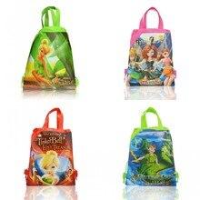1pcs Drawstring Backpacks Bags 34*27CM Cartoon Peter Pan Children Non Woven Fabrics Home Storage School Shopping Party Gift Bag недорго, оригинальная цена