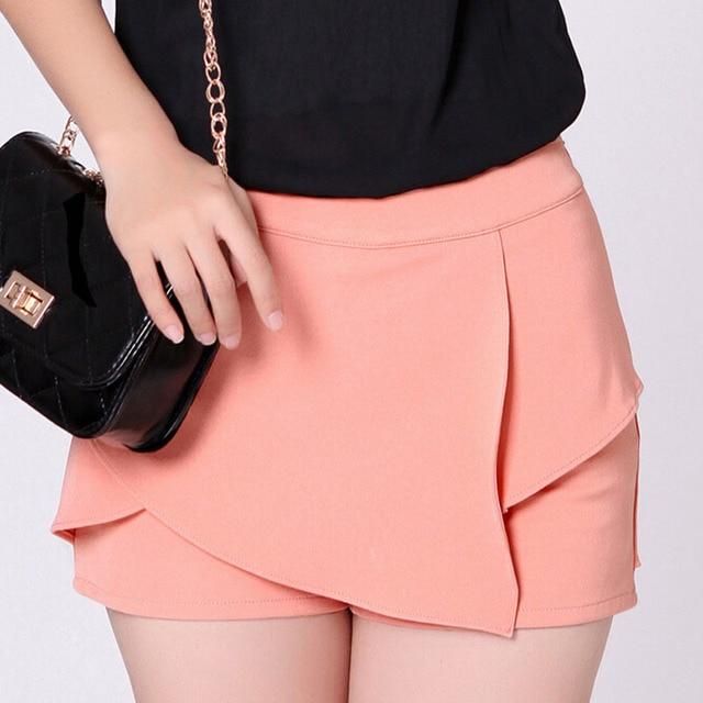EU Fashion Lady Pink Shorts Skirts Plus Size S-3XL Black Clothing 2015 Women Casual Summer Capris Fast Shipping