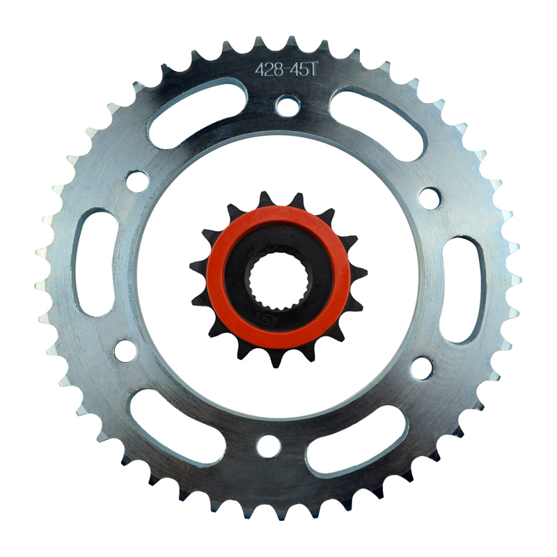 High Performance Motorcycle 15T Front & 45T Rear Sprocket Kit Set For Yamaha YBR250 2007-2011