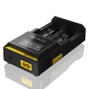 Image 4 - Originale Nitecore D2 Caricabatteria LCD Intelligente di Ricarica per 18650 14500 16340 26650 AA AAA Batterie 12V Caricatore h15