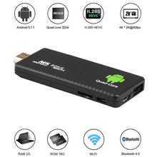 MK809 Ⅲ Android 7,1 TV Dongle RK3229 Quad Core 2G / 16G UHD 4K HD 3D Mini PC AirPlay Miracast DLNA H.265 WiFi Smart Media-Player