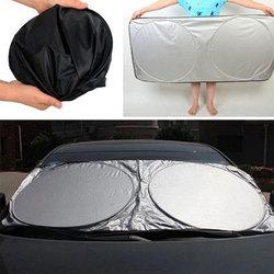 Vehemo ventana frontal 190*90 Auto parasol para coche parasol parabrisas duradero plegable SUV protección Solar