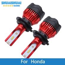 Светодиодный фонарь для автомобильных фар H7 H4 H11 H1 9005 12 В лм светодиодный автомобильный фонарь для Honda Civic/Accord/Jazz/Crv/Odyssey/City/Insight/Pilot