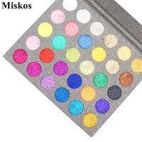 Miskos 30 Kleuren Diamond Glitter Foiled Oogschaduw Gloednieuwe Pressed Glitter Oogschaduw Pallete Make up Palette Cosmetische Xms Gift