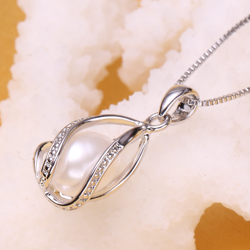 FENNEY Pearl Jewelry, 100% Natural Pearl Pendant Necklace, fashion - Perhiasan bagus - Foto 3