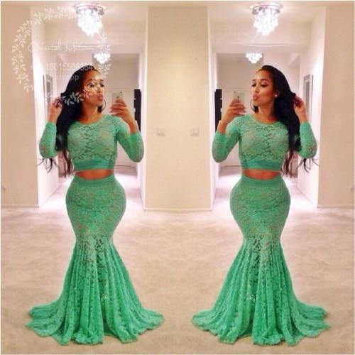 Green black prom dresses