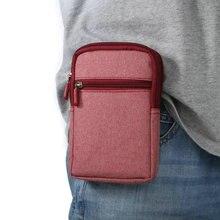 Туристические спортивные мульти-карманы мобильного телефона чехол, водонепроницаемый холст нейлон поясная сумка пакет, Универсальный в пределах 6.3 »мобильный телефон
