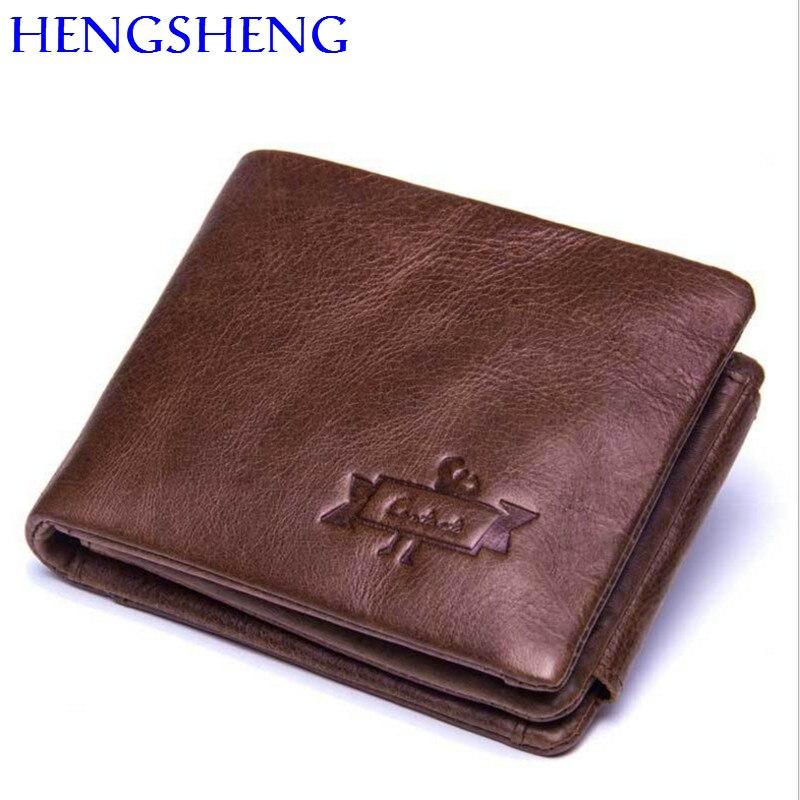 4331eb2ee Hengsheng 100% de cuero genuino de las mujeres la cartera con cremallera de  calidad mujer cartera tarjeta titular de la cartera corto las mujeres dama  ...