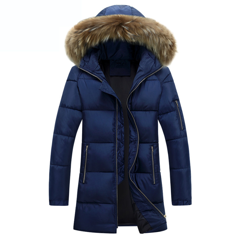 Winter Three Color Men's Long Overcoat Hooded Padded Jacket Out Wear Men Casual Coat, Plus size S,M,L,XL,XXL,XXXL F17-125E vogue anmi brand clothing men s casual parkas long style loose fit fur hooded jacker winter jacket men padded army size m xxl