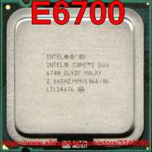 Original Intel CPU Core 2 Duo E6700 Processor 2.66GHz/4M/1066MHz Dual-Core Socket 775 free shipping speedy ship out(China)
