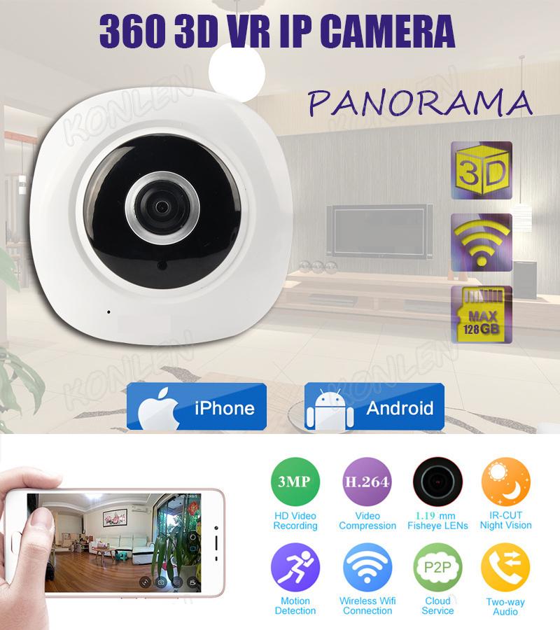 Panoramic 360 degree Fisheye IP camera 1