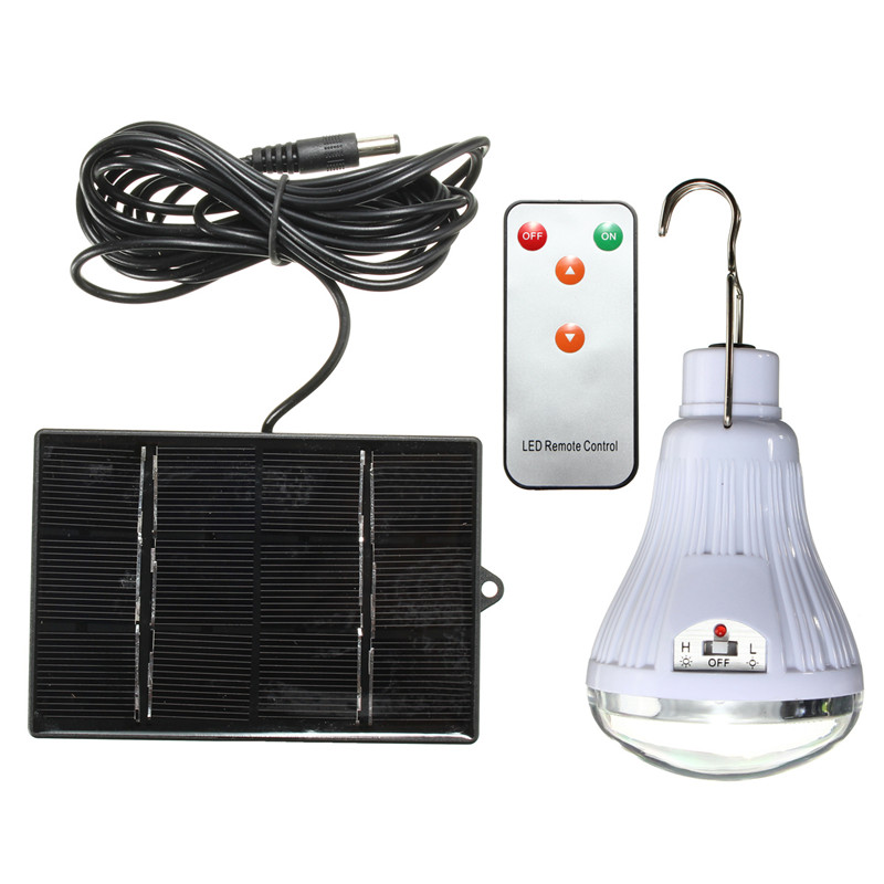 Portable LED Solar Light Bulb 20led Hooking Lamp Outdoor Solar Panel Camping Lamp Garden Travel Lighting with Remote Control portable solar power meter for solar research and solar radiation measurement sm206