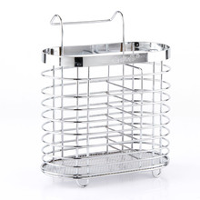 Hanging Tableware Tube Cage Rack Drain Chopsticks Spoon Holder Metal Organizer Stainless steel chopsticks holder