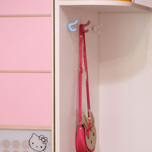 Fashion Cartoon Color Children Room Wardrobe Door Decorative Hook Blue Pink  White Drawer Cabinet Knob Pull Handle
