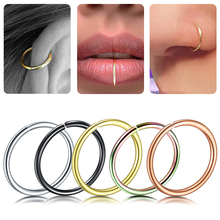 5Pcs/lot 20G Fake Indian Nose Ring Steel Helix Tragus Earrings Hoop Nose Rings Faux Nose Ring Piercing Nariz Septum Piercing Lip цена
