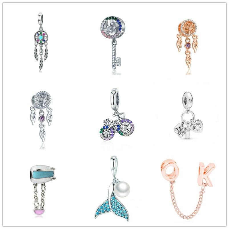 TTBEADS 1pcs European Silver CZ Charm Bead For 925 Necklace Bracelet Chain DIY(China)
