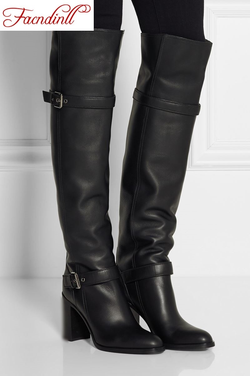 High Black Boots Women
