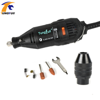 Tungfull Style Variable Speed Electric Rotary Tool Mini Drill With 1pc Universal Drill Chuck 37000rpm 110V