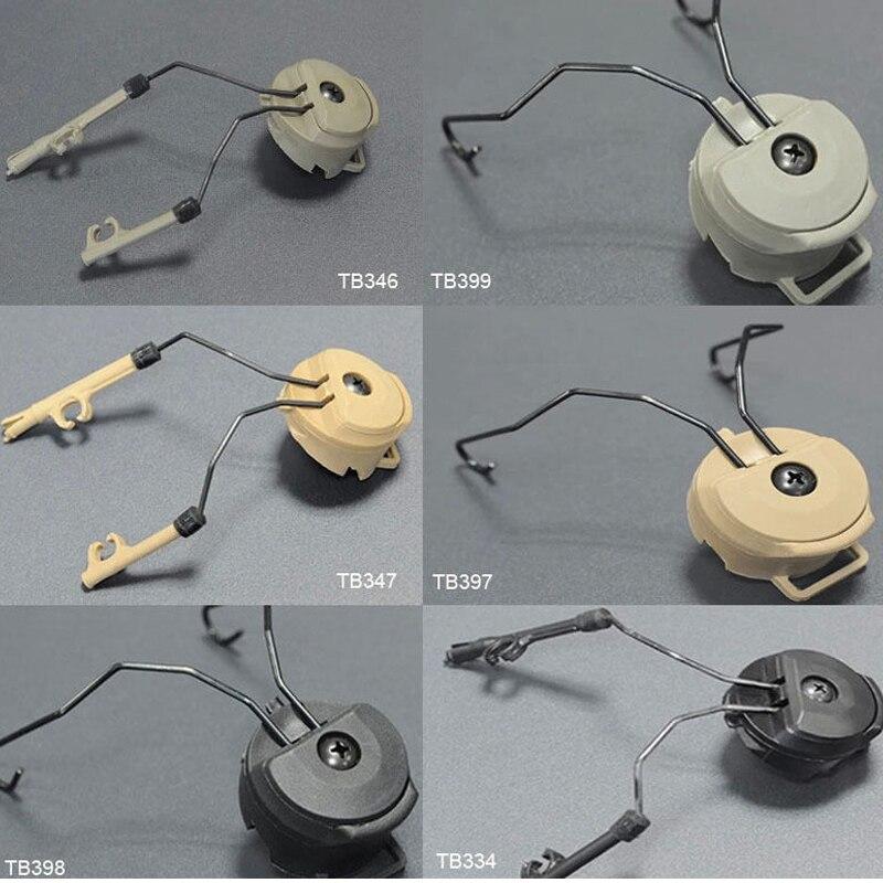 fma acessorios capacete tatico sordin tipo fone de ouvido titular rapida capacete rail adapter set bk