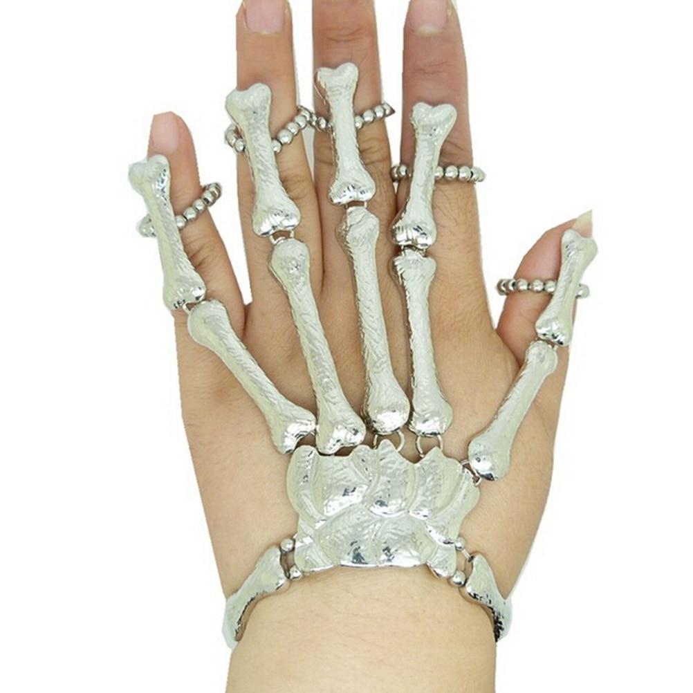 Bracelets & Bangles Back To Search Resultsjewelry & Accessories Generous Gothic Punk Skull Finger Bracelets For Women Nightclub Skeleton Bone Hand Finger Flexible Bracelets Bangles Halloween Gift