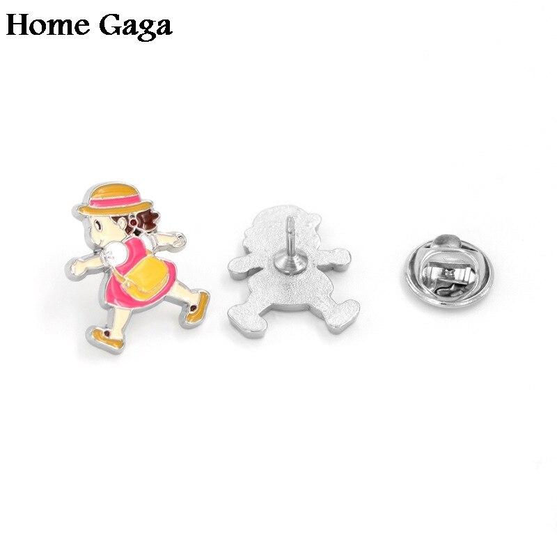 Apparel Sewing & Fabric Contemplative 10pcs/lot Homegaga Miyazaki Hayaototoro Mei Zinc Cartoon Pins Backpack Clothes Brooches For Men Women Hat Badges Medals D1710 Terrific Value