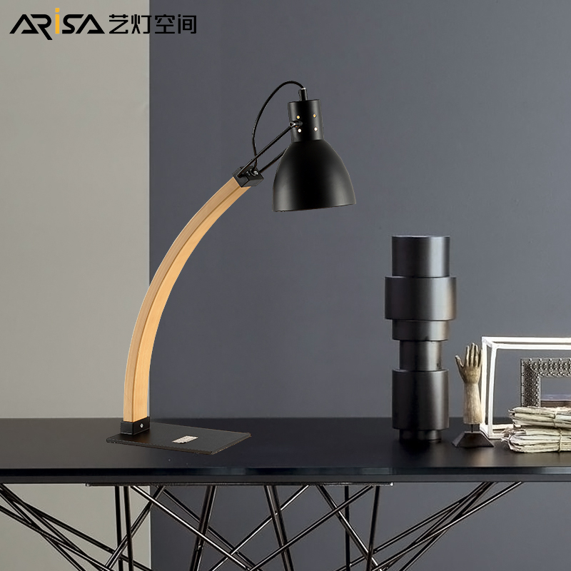 iwhd modern led desk lamp wooden deer table lamps creative lovely fixtures for children study room bedroom bar lamparas de mesa Modern LED Nordic Wooden Table Lamps Bedroom Fixtures Decoration Bedside Lamps Iron Lighting Study Lamps Creative desk Lamps