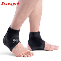 Kuangmi 1 Pair Thin Breathable Ankle Support Safety Fitness Sports Foot Protection Running Basketball Football Ankle Brace Guard