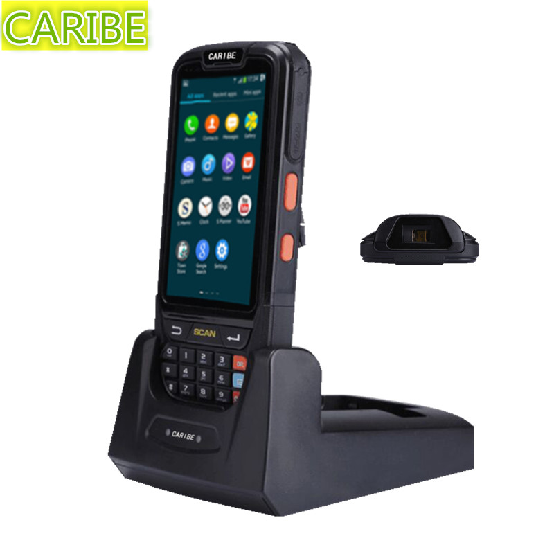 Caribe PL-40L 4G FDD-LTE High quality Android pda HF Bluetooth RFID reader with 1d barcode scanner function caribe pl 40l industrial handheld android pda wifi mobile 1d barcode scanner and hf rfid tags reader