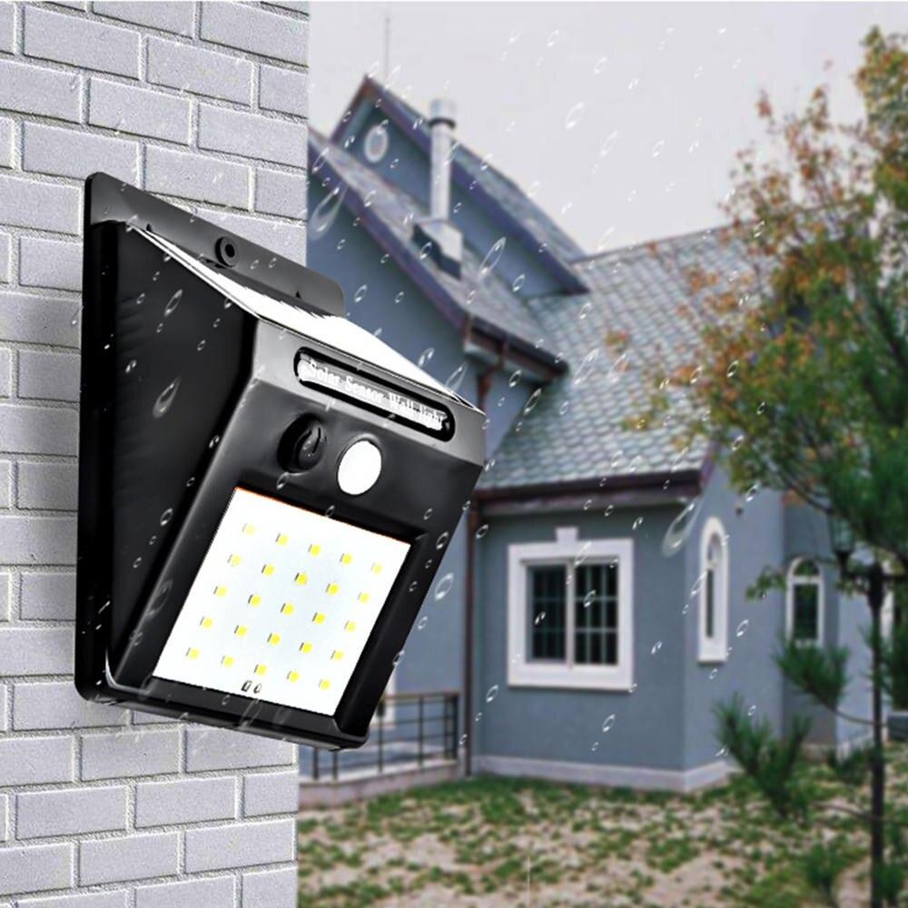 Su geçirmez 20 LED Güneş Işıkları Hareket Sensörü Duvar Işık güneş enerjili LED sokak lambası Lamba Enerji Tasarrufu Açık Bahçe Avlu Lambaları