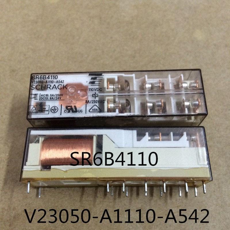 цена на Protective Safety 110V relay SR6B4110 V23050-A1110-A542 110VDC SR6B4110-V23050-A1110-A542 110VDC DC110V 110V 8A 250VAC 14PIN