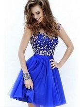 Womens Formal Slim Bodycon Dress Wedding Bridesmaid  Mini Dress Blue