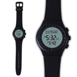 Muslim Azan Watch 6506 Black Color Islamic Azan Watch 100% New Origin 1pcs Gift Package