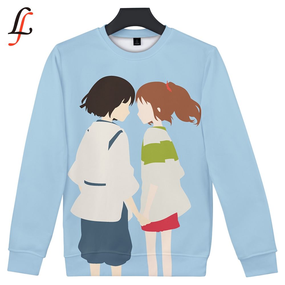 Spirited Away 2019 3D Print Software 2019 New Sweatshirt Harajuku Style Women/Men Popular Clothes Casual Hot Sale Sweatshirts image
