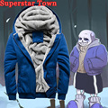 Game Undertale Sans Papyrus Hoodie hooded Men Thick Coat Winter Warm Cosplay Sans Jacket Costume Sweater