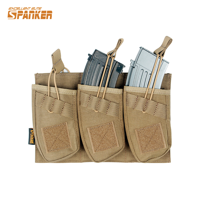 Tactical AK 47  Rifle Triple Magazine Pouch 1050D Nylon Military Airsoft  Paintball Hunting Accessories jinjuli nylon tactical pouch