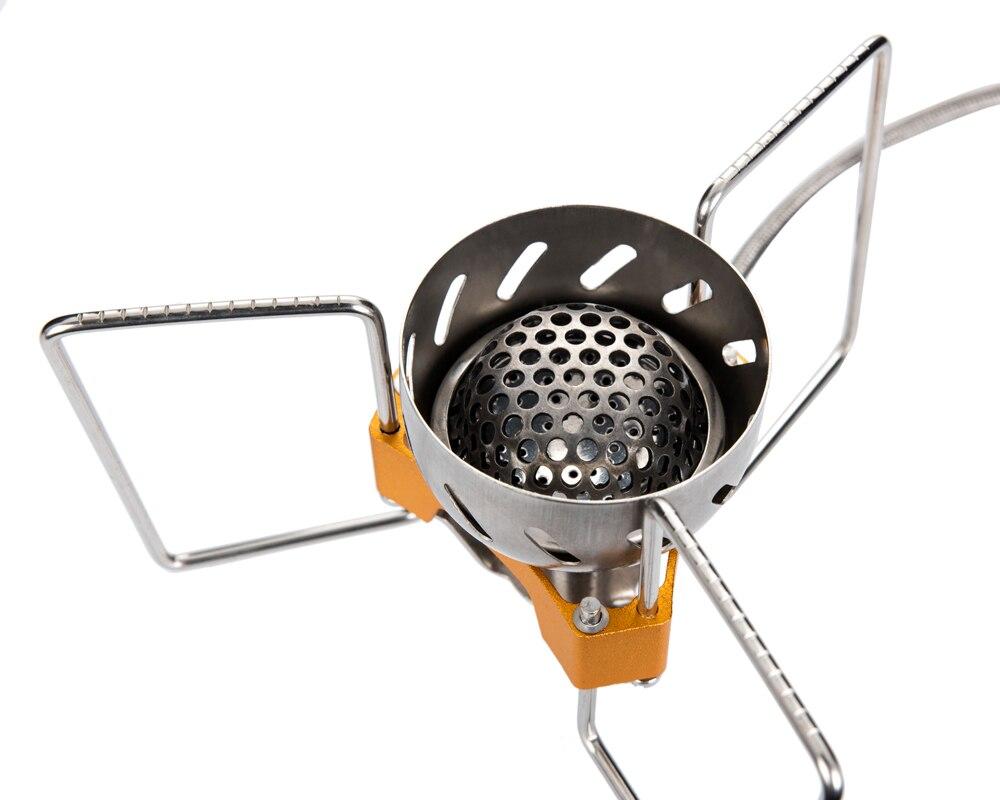 1 Pc feu érable FWS-02 coupe-vent extérieur Camping ultraléger Split cuisinière à gaz tête