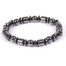 JETTINGBUY Magnetic Health Care Biomagnetism Magnetic Round Black Stone Magnetic Bracelet(China)