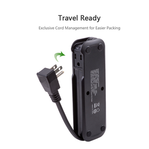 Image 2 - NTONPOWER Travel Power Strip with USB US Electrical Flat Plug Mini Desktop Charging with 15 inch Extension Cord for Cruise Ship