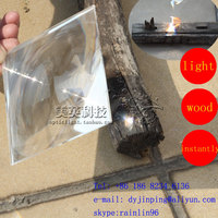 solar light collecting fresnel lens with size 260*260mm Focus 370mm magnifier lens PMMA material