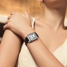 Switzerland Luxury Watches Agelocer Top Brand Leather Belt Quartz Watch Square Waterproof Analog Ladies Watch With