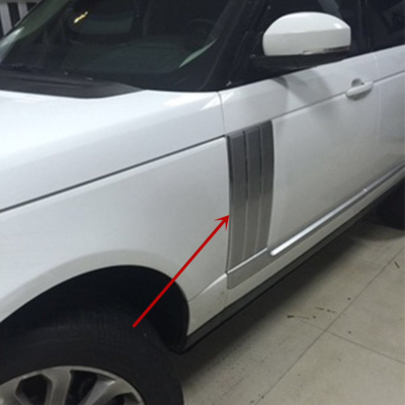 For Land Rover Range Rover Vogue Silver Chrome line Side Door Air Vents Kit Trim 2014 2015 2016 newest for land rover range rover evoque abs center console gear panel chrome decorative cover trim car styling 2012 2017